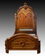 American Renaissance Revival Carved Bed