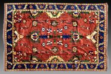 Maroon Blue Yellow Persian Rug