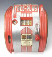 1940s Daval Free Play 5 Cent Gumball Slot Machine