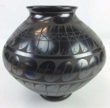 Signed Pueblo Native American Pottery Jug