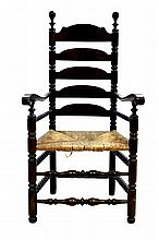 Wallace Nutting Ladder Back Chair, Rush Seat