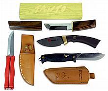 4 Pc Knife: Kuusamo, Boker, Hackman, Parker