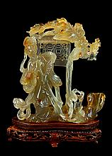 Asian Carved Agate Female Figurine at Phoenix Gate