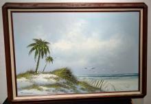 Wood Untitled, Seagulls Near S Oil on canvas