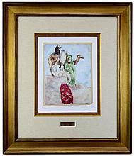 Marc Chagall (1887-1985) Éliézer et Rébecca Ltd. Ed. Lithograph