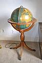 Vintage Light Up Floor Globe