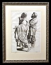 Antique Engraving, N. Poussin, Carree Sculp