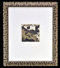 Gustave Baumann 1881-1971 Native American Woodcut, c. 1920s