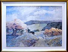 Pencil Signed Framed Landscape Mountain Print