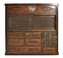 #3 Asian Tansu Chest  w/ Drawers
