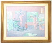 Wayne Shilson The Painters Studio Oil on Canvas