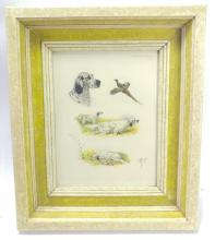 Riav Hunting Setter Hounds Etching
