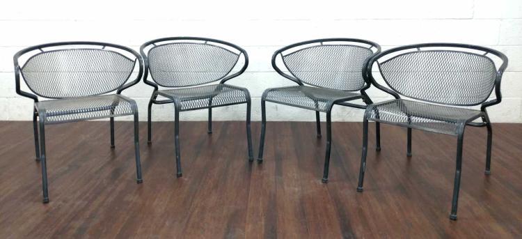 Set of 4 Mid-Century Modern Patio Chairs