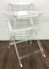 2pc. Lucite Folding TV Tray Tables