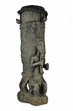 Baule Drum, Carved Figure