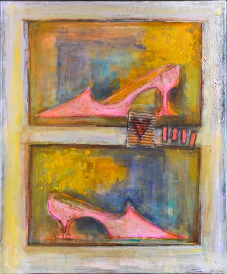 Jennifer Allred (1955-2016) Abstract Painting