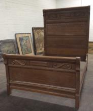 Atq. Hannibal Full Size Ornate Wood Bed Frame