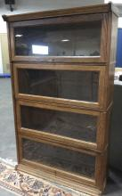 4 Tiered Wood & Glass Bookcase