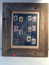 Framed Norman Rockwell Classics Stamp Collection