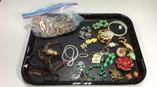 Beaded Sea Shell & Other Costume Jewelry Lot