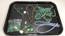 Jadeite Style Necklaces w/ Other Costume Jewelry