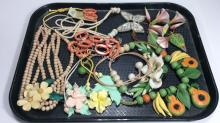 Floral Beaded Costume Jewelry Lot