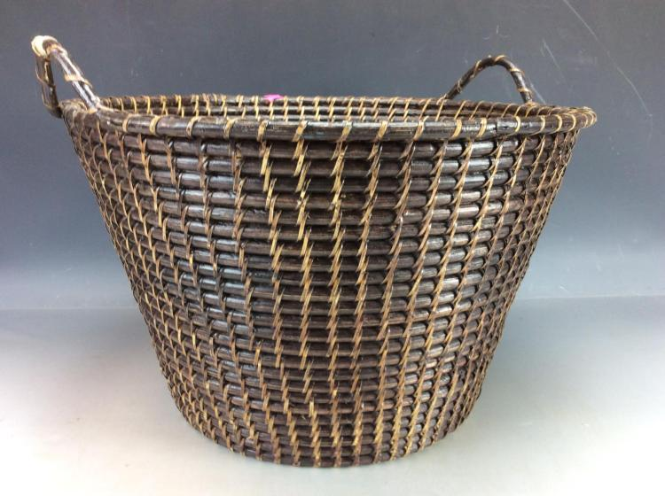 How To Weave A Cane Basket : Hand woven cane basket