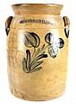 Cowden & Wilcox Stoneware Crock, Cobalt Flower