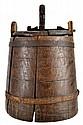 19th C. Primitive Sugar Bucket with Latch Lid