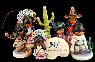 Goebel DeGrazia Figurines & Rare Cactus