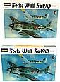 Pair Hasegawa Focke-Wulf Fx190 Model Kits