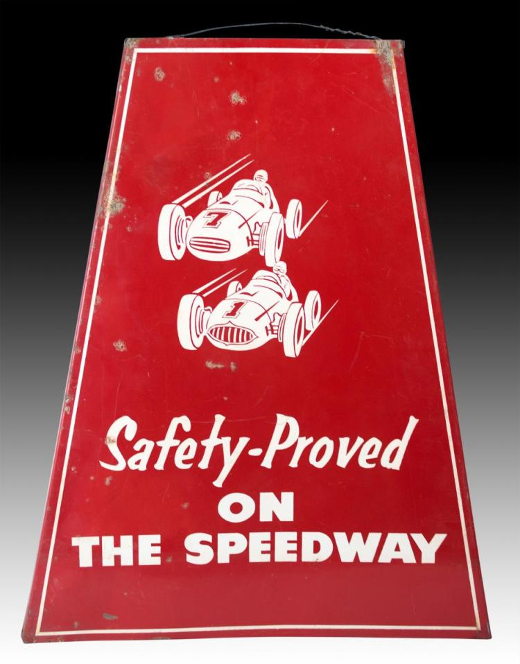 1940s Firestone Safety-Proved On The Speedway Sign