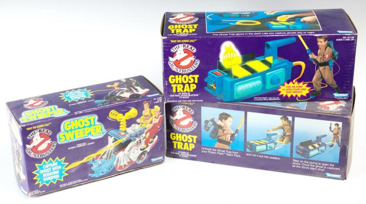 3 Pc. Real Ghostbusters Toy Lot MIB