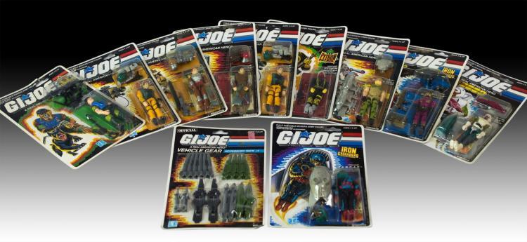 11 Pc. 1980s Hasbro GI Joe Figure Lot