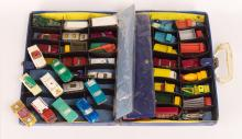 Vintage Lesney & Matchbox Cars w/ Carry Case