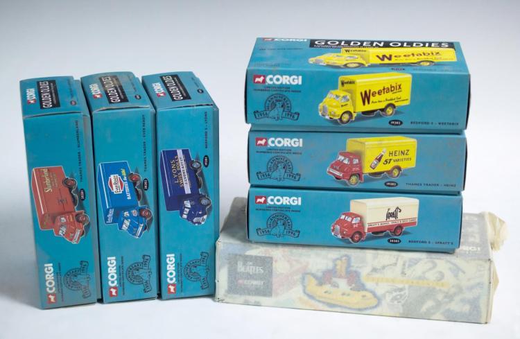 7 Pc. Corgi Classics w/ Yellow Submarine