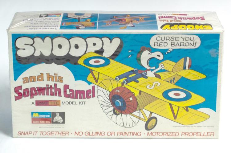 1970 Monogram Snoopy & Sopwith Camel Model Sealed