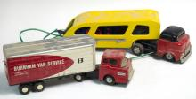 Mar Toys & Burnham Tin Tractor Trailer Truck Pair