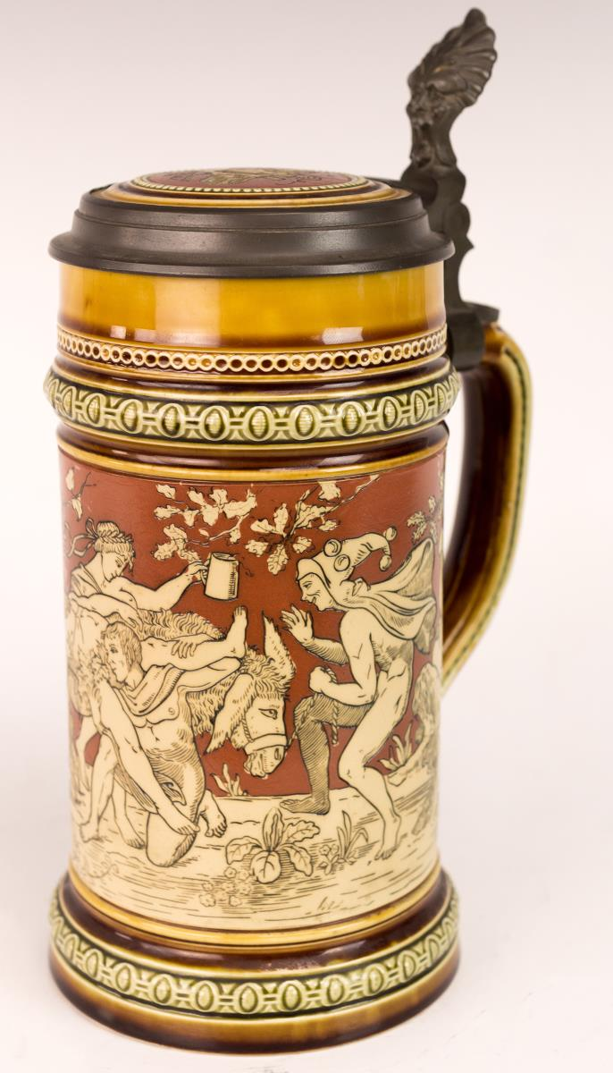Mettlach Beer Stein w/ Greek Mythology Scene