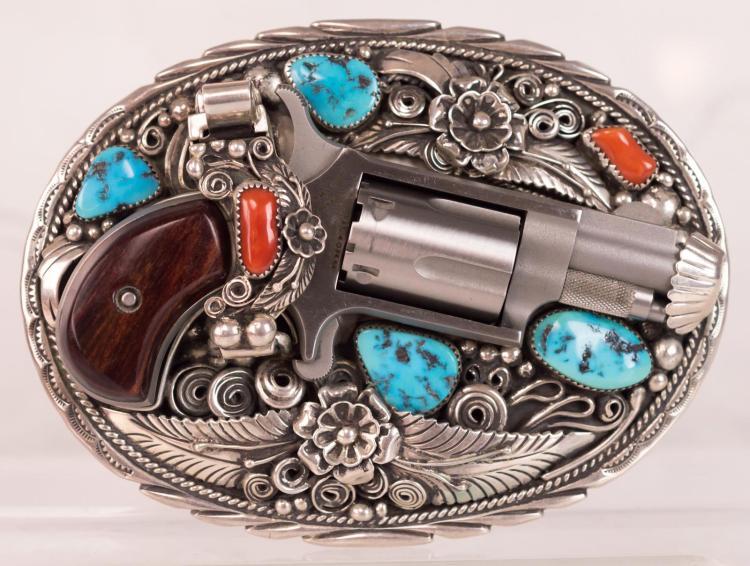 N. American Arms .22 Cal Pistol & Sterling Buckle