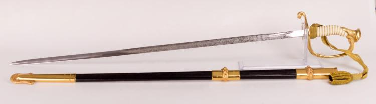 U.S. Navy Dress Sword w/ Case, William Salwick