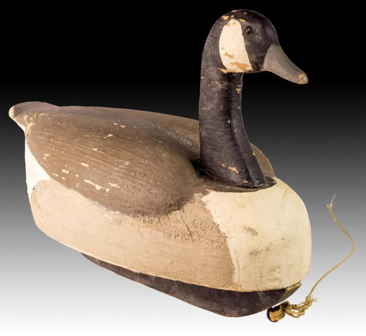 Signed Vintage Wooden Goose Decoy