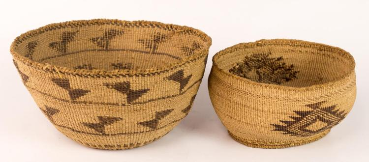 2Pc Apache Baskets w/ Geometric Design