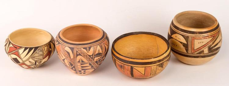 4Pc Hopi Norma Ami (20th C) Pottery Lot