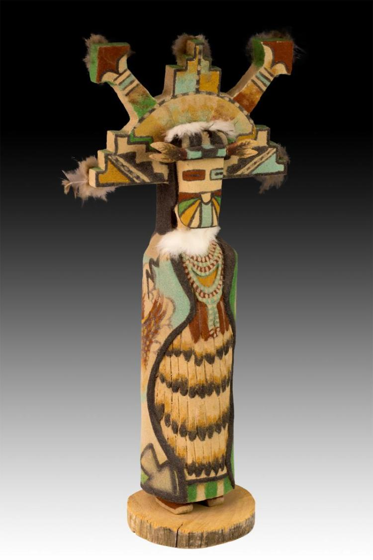 Signed E. Platero Shalake Maiden Kachina Doll