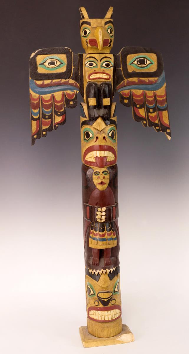 Native American Haida Model Totem Pole