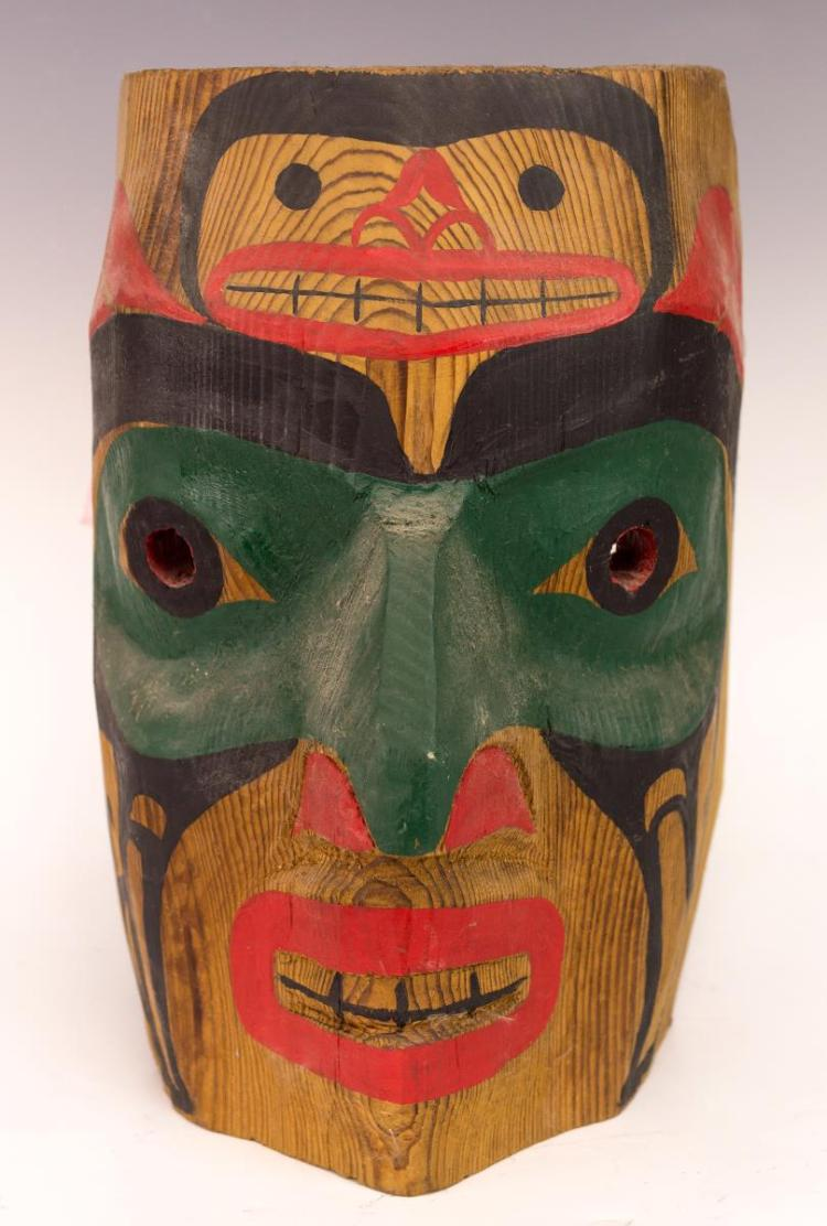 Robert S. Hill (20th C) Haida Warrior Mask