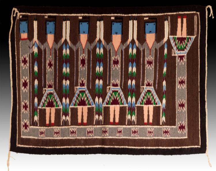 Navajo Hand Woven Wool Yeibichai Rug