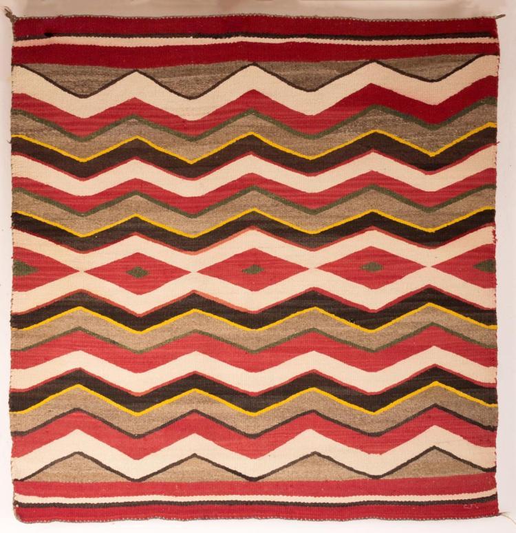 Multicolored Native American Wool Rug