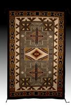 Southwestern Style Hand Woven Wool Rug